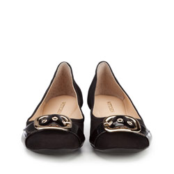 Women's ballerina shoes, black, 86-D-757-1-37, Photo 1