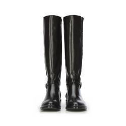 WOMEN'S KNEE HIGH BOOTS, black, 87-D-200-1-37, Photo 1