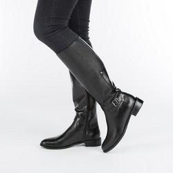 Women's knee high boots, black, 87-D-201-1-40, Photo 1