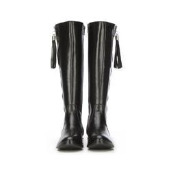 Women's knee high boots, black, 87-D-202-1-35, Photo 1