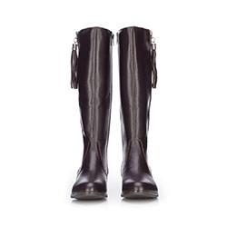 Women's knee high boots, brown, 87-D-202-4-40, Photo 1