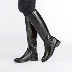 Women's knee high boots, black, 87-D-203-1-36, Photo 1