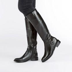 Women's knee high boots, black, 87-D-203-1-39, Photo 1