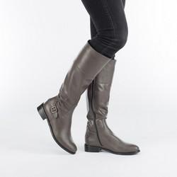 Women's knee high boots, grey, 87-D-203-8-35, Photo 1