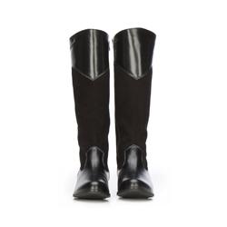 Women's knee high boots, black, 87-D-204-1-39, Photo 1