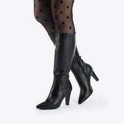 Women's knee high boots, black, 87-D-206-1-37, Photo 1