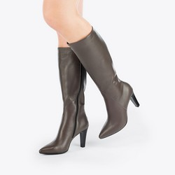 Women's knee high boots, grey, 87-D-206-8-35, Photo 1