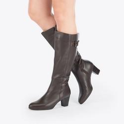 Women's shoes, dark brown, 87-D-313-4-41, Photo 1