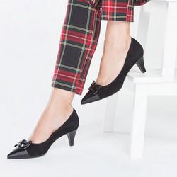 Women's court shoes, black, 87-D-705-1-36, Photo 1