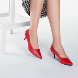 Women's court shoes, red, 87-D-706-3-42, Photo 1