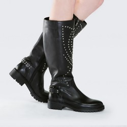 Women's knee high boots, black, 87-D-900-1-37, Photo 1