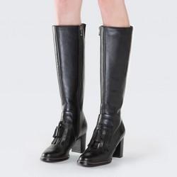 Women's knee high boots, black, 87-D-901-1-36, Photo 1