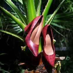 Buty damskie, czerwono - czarny, 88-D-550-3-39, Zdjęcie 1