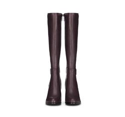 Women's knee high boots, burgundy, 89-D-962-2-39, Photo 1