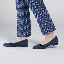 Women's ballerina shoes, navy blue, 90-D-205-7-37, Photo 1