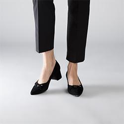Women's court shoes, black, 90-D-903-1-37, Photo 1