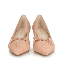 Women's court shoes, beige - silver, 90-D-903-9-37, Photo 1