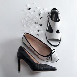 Women's shoes, white-black, 90-D-967-0-36, Photo 1