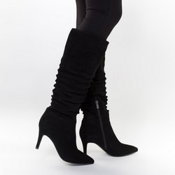 High stiletto heel knee high boots, black, 91-D-963-1-35, Photo 1