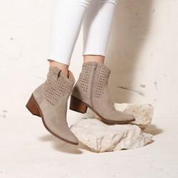 Shoes, beige - silver, 92-D-053-9-40, Photo 1
