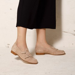 Shoes, beige - silver, 92-D-125-9-41, Photo 1