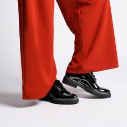 Women's leather lace up shoes, black, 92-D-134-1-37, Photo 1
