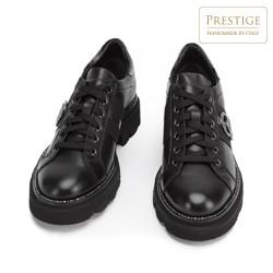 Damskie sneakersy skórzane z łańcuszkiem, czarny, 93-D-109-1-40, Zdjęcie 1