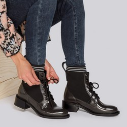 Leather lace up boots, brown, 93-D-954-8-36, Photo 1