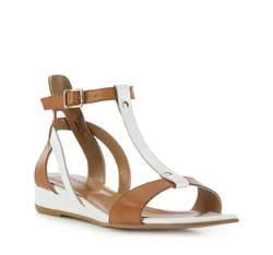 Buty damskie, brązowo - biały, 82-D-411-5-36, Zdjęcie 1