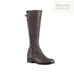 Women's knee high boots, grey, 83-D-401-1-38, Photo 1