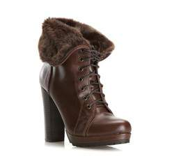 Women's lace up ankle boots, dark brown, 79-D-205-4-39, Photo 1