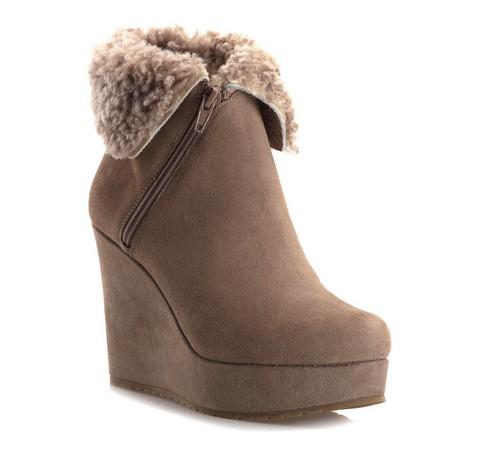 Buty damskie, beżowy, 79-D-601-9-40, Zdjęcie 1