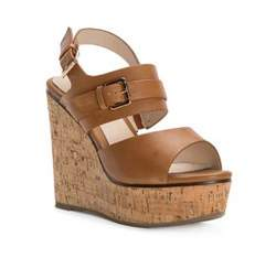 Women's wedge sandals, brown, 82-D-536-5-37, Photo 1
