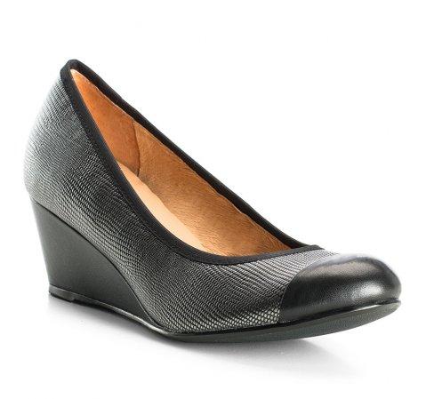 Buty damskie, srebrno-czarny, 83-D-601-8-35, Zdjęcie 1
