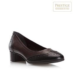 Buty damskie, czarno - brązowy, 79-D-121-8-37, Zdjęcie 1