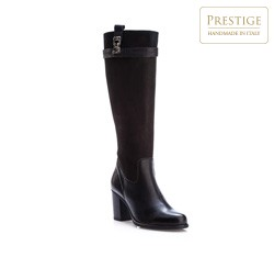 Knee high boots, black, 83-D-802-1-38, Photo 1