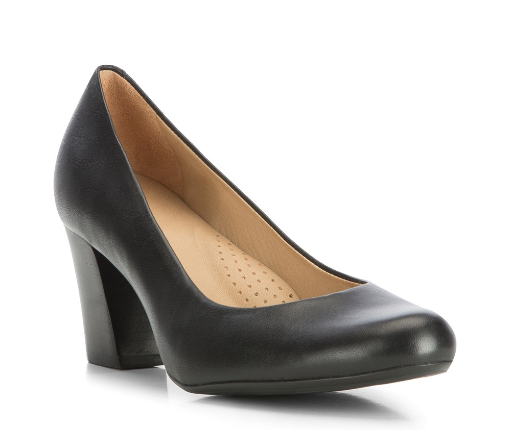 Обувь женскаяЖенские туфли-лодочки выполненны по технологии hand made из лучшей итальянской кожи. Подошва сделана  из синтетического материала. Модель на устойчивом каблуке с мягкой  профилированной стелькой гарантируют высокий комфорт.         кожа натуральная          кожа натуральная          материал синтетический<br><br>секс: женщина<br>Цвет: черный<br>Размер EU: 35<br>материал:: Натуральная кожа<br>примерная высота каблука (см):: 7