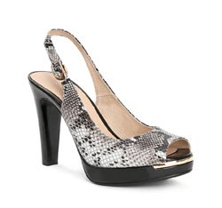 Buty damskie, czarno - biały, 84-D-506-8-38, Zdjęcie 1