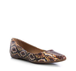 Women's shoes, brown-yellow, 84-D-750-4-35, Photo 1