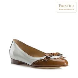 Buty damskie, biało - brązowy, 80-D-109-0-36, Zdjęcie 1
