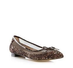 Buty damskie, brązowo - złoty, 80-D-211-5-37, Zdjęcie 1