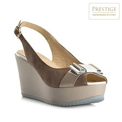 Women's shoes, dark beige, 80-D-121-5-36_5, Photo 1