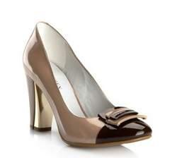 Buty damskie, beżowo - brązowy, 80-D-538-4-39, Zdjęcie 1