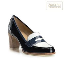 Buty damskie, granatowo - biały, 80-D-115-7-38_5, Zdjęcie 1