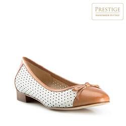 Buty damskie, biało - brązowy, 82-D-100-04-35, Zdjęcie 1