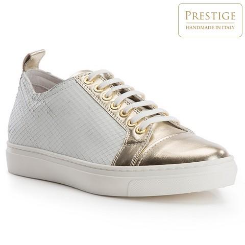 Buty damskie, biało - złoty, 82-D-151-0-35, Zdjęcie 1