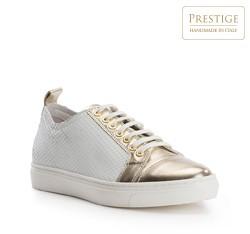 Buty damskie, biało - złoty, 82-D-151-0-36, Zdjęcie 1