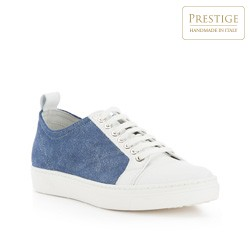 Buty damskie, biało - niebieski, 82-D-151-91-41, Zdjęcie 1