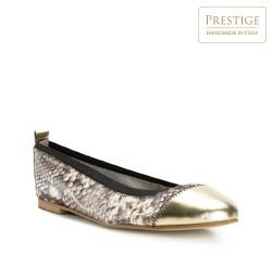 Buty damskie, brązowo - złoty, 82-D-300-8-37, Zdjęcie 1