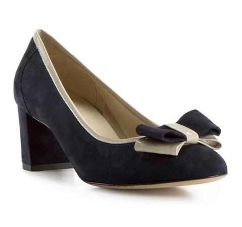 Buty damskie, granatowo - beżowy, 82-D-107-7-35, Zdjęcie 1